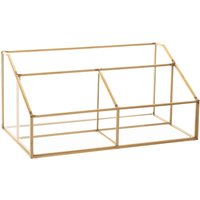 Glass and Gold Metal Letter Organiser