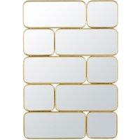 Golden Metal Mirror 123x84