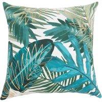 Green Velvet Jungle Print Cushion Cover 40x40
