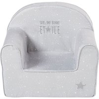 Grey Children's Armchair with Star Print