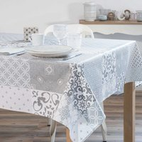 grey coated tablecloth 170 x 310 cm