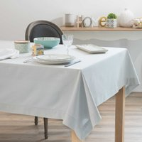grey cotton tablecloth 150 x 250 cm