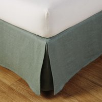 Jade Green Washed Linen Valance 140x190