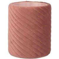 Pink Velvet Effect Topstitched Pencil Pot