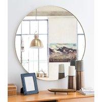 Round Golden Metal Mirror D90