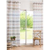 Single Striped Cotton Eyelet Curtain 140x250