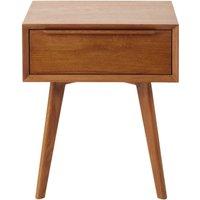 Solid Oak Vintage 1-Drawer Bedside Table
