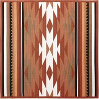 Terracotta Outdoor Rug with Graphic Print 200x200