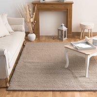 woollen rug in beige 200 x 300cm