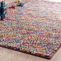 woollen rug, multicoloured 140 x 200cm