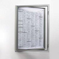 Plakatschaukasten,außen HxBxT 500x377x30mm,f. Format DIN A3,Rahmen eckig