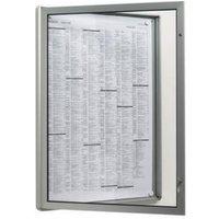Plakatschaukasten,außen HxBxT 500x377x30mm,f. Format DIN A3,Rahmen rund