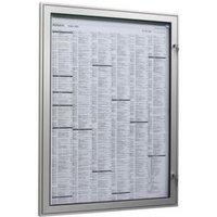 Plakatschaukasten,außen HxBxT 500x377x30mm,f. Format DIN A3,RAL6005