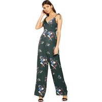 Lost Ink Printed Strappy Back Jumpsuit