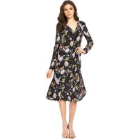 Warehouse Butterfly Print Silk Dress