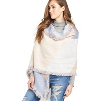 V By Very Oversized Diagonal Brushed Blanket Wrap