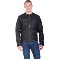 Crosshatch Blackbird PU Biker Bomber Jacket