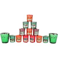 Yankee Candle Green Votive Holder 14 Piece Set