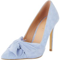 V by Very Jaquie Real Suede Knot Detail Heeled Shoe