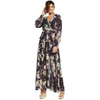 V By Very Floral Printed Wrap Maxi Dress