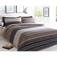 Textured Stripe Duvet Set - King Size
