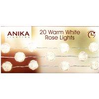 20 Warm White LED Rose Lights