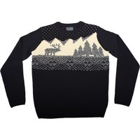 Mens Wood Cabin Christmas Jumper
