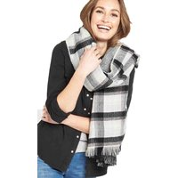 V By Very Reversible Check Herringbone Blanket Scarf