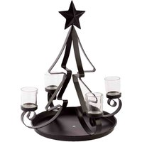 Black Metal Tree Tealight Holder