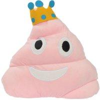 Plush Pink Emoji Poop Crown Cushion