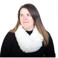 Ladies Fluffy White Snood