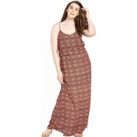 So Fabulous Printed Double Layer Maxi Dress