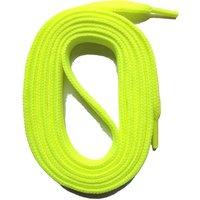 SNORS shoefriends Schnürsenkel flach 100-145cm, 11mm aus Polyester Schnürsenkel neongelb Gr. 100