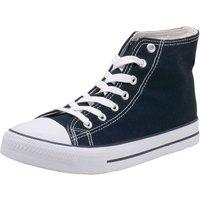 Fitters Footwear That Fits Leinenschuh Canvas Sneakers High dunkelblau Damen Gr. 37