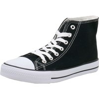 Fitters Footwear That Fits Leinenschuh Canvas Sneakers High schwarz Damen Gr. 38