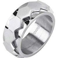 2Jewels Herrenring Hexagon Ringe silber Herren Gr. 65