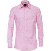 VENTI Hemd uni Langarmhemden rosa Herren Gr. 38