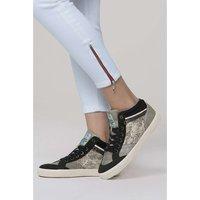 SOCCX Sneaker im Material- und Farbmix Sneakers High grau Damen Gr. 36
