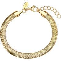 Soul Club Schlangenarmband Edelstahl gelbvergoldet Armbänder gold Damen Gr. 17,0
