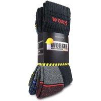 normani® 6 Paar Arbeitssocken WORKER colour Socken bunt Gr. 39-42