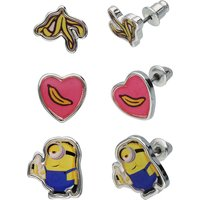 SIX Minions Kinder-Ohrstecker-Set Ohrhänger für Mädchen rosa Mädchen