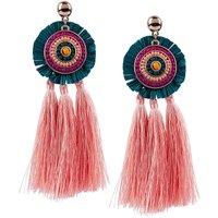 SIX Ohrhänger mit Ornament und Tasseln Ohrhänger gold Damen