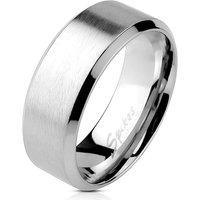 BUNGSA® Ring mit schrägem Rand Silber aus Edelstahl Unisex Ringe silber Gr. 49