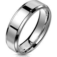 BUNGSA® Ring schräger Rand Silber aus Edelstahl Unisex Ringe silber Gr. 49