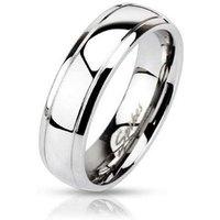 BUNGSA® Ring schmale Aussenringe Silber aus Edelstahl Unisex Ringe silber Gr. 49