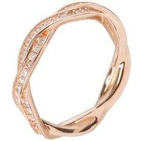 Ring 930 Silber rosévergoldet, Zirkonia