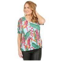 Jeannie Plissee-Shirt 'Merida' multicolor