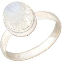 Ring 925 Silber, Regenbogen-Mondstein