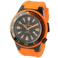 POSEIDON Herrenuhr XL, schwarz/orange