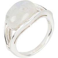 Ring 925 Sterling Silber, Regenbogen-Mondstein